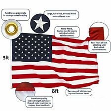 Heavy Duty American US Flag ANLEY 5x8 Foot Nylon Embroidered Stars Sewn Stripe B