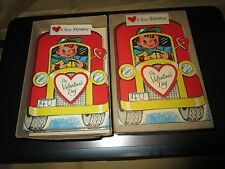 Vintage Valentine Greeting Cards & Envelopes Lot of 12 Unposted Wishing Well