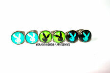Oil Design Earrings-Stainless Steel*3 Pairs of Green & Turquoise Playboy*-ODE386
