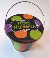 Metal Happy Halloween Mini Candy Bucket Containers Autumn Trick or Treat