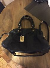 MARC by MARC JACOBS Classic Q Baby Groovee Black Leather Satchel Purse