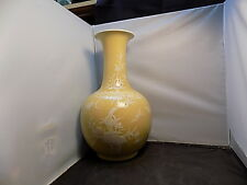 large chinese yellow porcelain vase mark