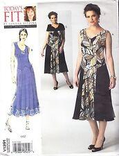"""Vogue Drop Waist Party Dress & Cape Plus Sizes Etc Bust 32""""-55"""" Sewing Pattern"""