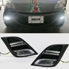 2x Bright White LED DRL Daytime Fog Light Run lamp For mazda 3 2010-2013