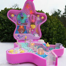 Mini Polly Pocket Feen Stern Schloss Licht Fairylight Wonderland 100% Komplett