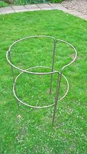 "LARGE HEAVY DUTY HANDMADE METAL HERBACEOUS / PEONY PLANT SUPPORT 5/16"" BAR"