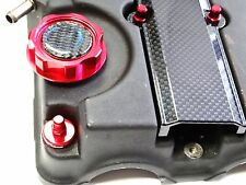 RED ENGINE DRESS UP KIT CARBON FIBER B16 B18  VALVE COVER INSERT WASHER SEAL NUT