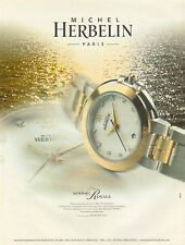 Publicité Advertising 2001  Montre MICHEL HERBELIN newport royale