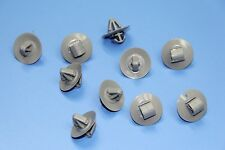 SKODA GREY PLASTIC FASTENERS DOOR SIDE MOULDING LOWER TRIM CLIPS 10 PCS