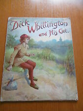 DICK WHITTINGTON AND HIS CAT  UNTEARABLE  ANTIQUE CHILDRENS BOOK ILLUSTRATED