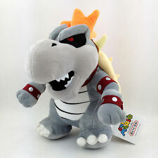 Dry Bowser Super Mario Bros Undead Koopa Troopa King Plush Toy Stuffed Animal 9""