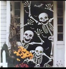 """Halloween Scary Skeleton Door Cover or Wall Decoration 30"""" X 72"""""""