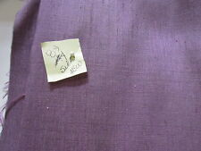 "VTG PURPLE MATKA RAW SILK FABRIC MADE IN INDIA 40"" W PRICE PER YARD"
