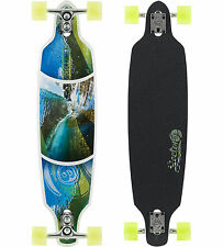 "SECTOR 9 Longboard FRACTAL WHITE Drop Through 9"" x 36"""