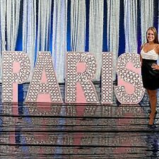 PARIS GLITTERING DIAMOND  LETTER SET STANDEE * Paris theme party decor *
