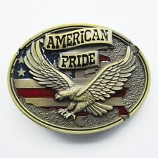 NEW AMERICAN PRIDE EAGLE ANIMAL USA 3-D  BELT BUCKLE