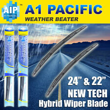"Hybrid Windshield Wiper Blades silicone Bracketless J-HOOK OEM QUALITY 24"" & 22"""