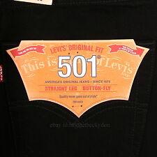 Levis 501 Jeans New BLACK Size 38 x 30 Mens Original Button Fly #628