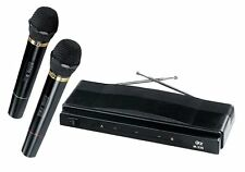 QUANTUM FX TWIN PACK WIRELESS CORDLESS MICROPHONE SYSTEM NEW