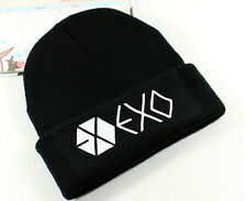 New Funny Unisex EXO Member knitted KPOP Winter Cap Hip-hop Cuff Beanie Hat JE