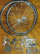 VINTAGE DURA ACE 7400 7 SPEED GROUP GRUPPO BUILD KIT MAVIC MA40 CLINCHER WHEELS