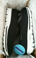 Womens Skechers Go Walk Shoes Blend Black Size 7.5M NEW Reg. $62