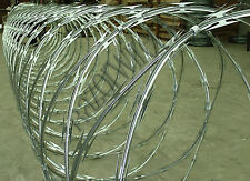 "RAZOR WIRE - 450mm x10m ""Clipped"" Galvanised, 65mm Barbs, Fencing, Barbed Wire"