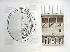 92 ~ ROMAN COLOSSEUM Rome ~ 1905 Architecture Design Structure Detail Art Print
