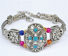 2013 fashion handmade Tibetan silver bracelet jewelry crafts bangle beads