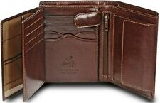 VISCONTI LUXURY BROWN LEATHER 8 CARD MULTI-FUNCTION WALLET MZ3 - Best Seller  !!