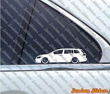 2x Lowered car outline stickers - for VW Golf MK7 SportWagen / Variant / Estate