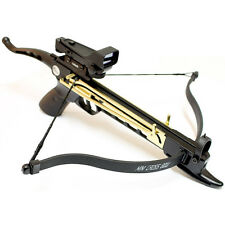 MINI 80 LB ARCHERY HUNTING SELF COCKING PISTOL CROSSBOW W/ RED DOT SIGHT SCOPE
