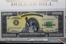 Original, Genuine 1988 I.A.M Million Dollar Bill Note, all Paperwork Folder, COA