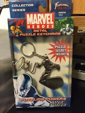 MARVEL HEROES METAL PUZZLE KEYCHAINS: SILVER SURFER, 2007, NIB