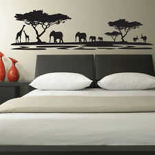 AFRICAN SAFARI LANDSCAPE BEDROOM LOUNGE WALL STICKER VINYL TRANSFER MURAL