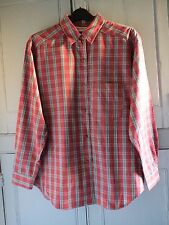 Ladies Vintage 90s French Connection Oversized Checked Red Shirt Small UK 10-12