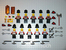 NEW LEGO Minifigure X10 Castle Red Dragon Army soldier figure axe shield 70400