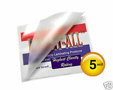 ( 500 pc) LAM-IT-ALL 5 Mil 3.5 x 5.5 File Card Hot Laminating Pouches Clear