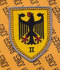 BRD GERMAN ARMY II CORPS SSI shoulder patch