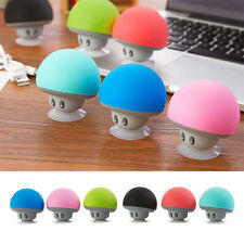 Portable Mushroom Wireless Bluetooth Handsfree Suction Speaker for Smartphone