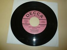 N C GARAGE PSYCHE 45RPM RECORD - THE NOVA LOCAL - DECCA 34489 - PROMO