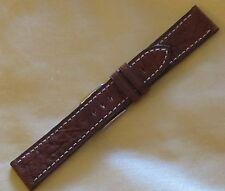 Bracelet de montre en cuir véritable marron Largeur 20mm neuf