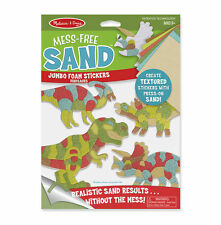 Melissa & Doug Mess-Free Sand Jumbo Foam Stickers Dinosaur #30040 NEW