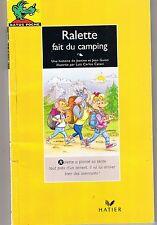 Ralette fait du Camping * RATUS JAUNE  13 * CP * Guion * Apprendre à lire