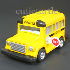 "3.75"" Short School Bus Diecast Toy Car Yellow"