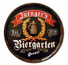 Beirgarten Beer Personalized Quarter Wood Barrel Sign, Man Cave, Bar, Pub