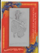 2010 TOPPS ALLEN AND GINTER ALCIDES ESCOBAR PRINTING PLATE MAGENTA 1/1 1 OF 1