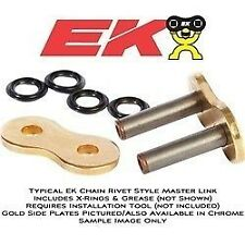 EK 520 SRO-6 RIVET Type Motorcycle Chain Gold Masterlink SRO6  NEW FREE SHIPPING