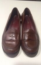 PRADA  Men's Vintage Brown Leather Penny Loafers Sz. 7.5 M Made in Italy