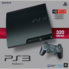 Sony PlayStation 3 Slim 320 GB Charcoal Black Console #133054